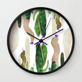 Color Cactus Mirros Wall Clock