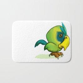 Green Parrot Bath Mat