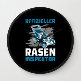 Lawn Inspector, Proud To Mow, Lawn Mower Wall Clock