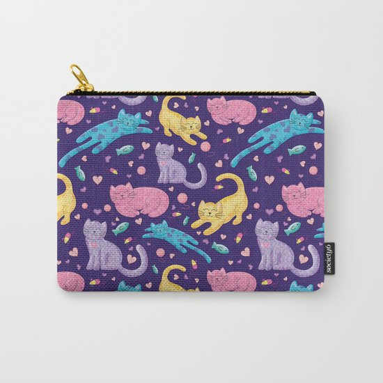 Playful Kittens Pattern Carry-All Pouch
