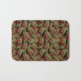 Flowering Gum - Black Bath Mat