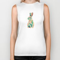 bunny Biker Tanks featuring Bunny by Sary and Saff