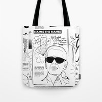 karl lagerfeld Tote Bags featuring Karl Lagerfeld by CLSNYC