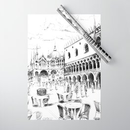 Sketch of San Marco Square in Venice Wrapping Paper