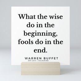 25       Warren Buffett Quotes   190823 Mini Art Print