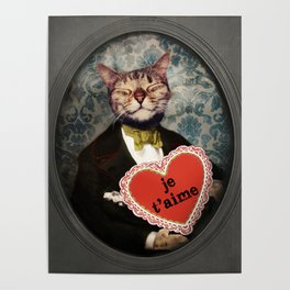 Je t'aime - Kitty Love Poster