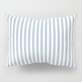 FADED BLUE DENIM STRIPES Pillow Sham
