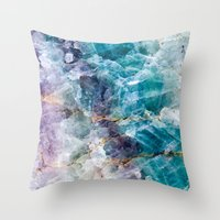 crystals Throw Pillows featuring crystals  by lokyic