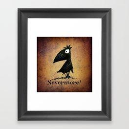 Nevermore! The Raven - Edgar Allen Poe Framed Art Print