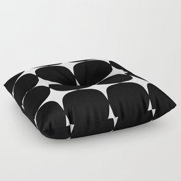 Retro '50s Shapes in Black and White Floor Pillow