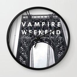 Vampire Weekend / George Washington Bridge Wall Clock