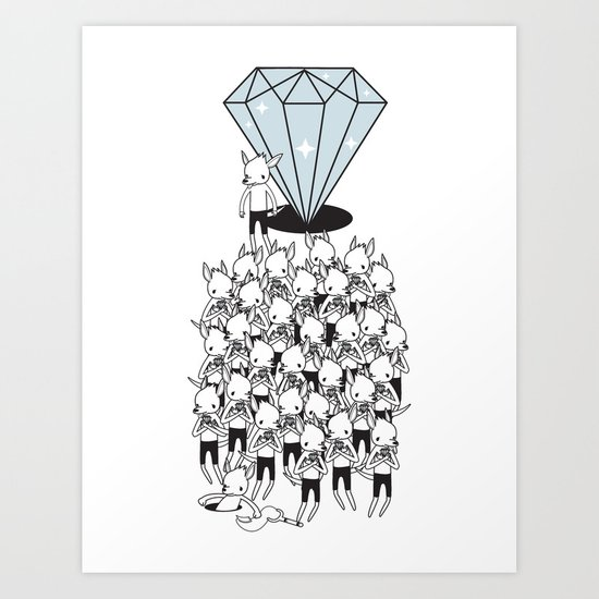I GOTTA BIG DIAMOND  Art Print