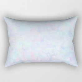 Rainbow Unicorn Pastel Fluffiness Rectangular Pillow