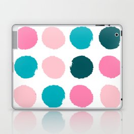 Hugo - abstract modern color palette gender neutral baby nursery dorm college art Laptop & iPad Skin
