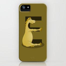 Pony Monogram Letter E iPhone Case