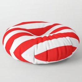 Stripe Red White Floor Pillow