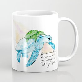 Snuggled into my heart Sea Turtle Coffee Mug