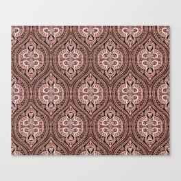 Copper Tribal Lace Ogee Canvas Print