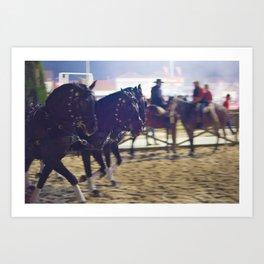 Feira da Golega 2015 3 horses 35 mm Art Print