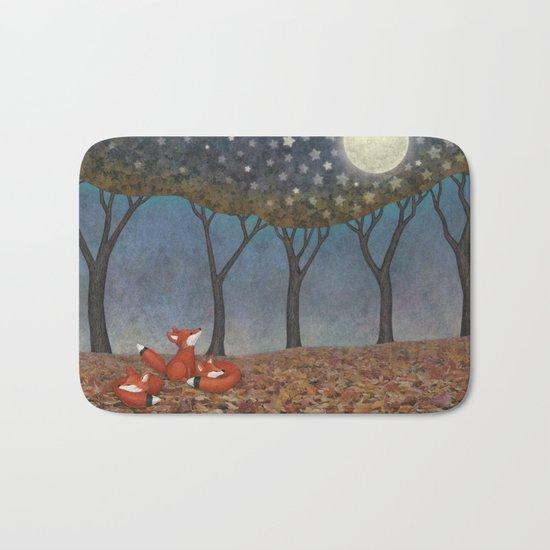 sleepy foxes Bath Mat