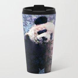 Panda Hanging out Metal Travel Mug