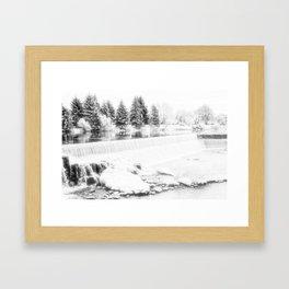 Idaho Falls - Beginning of Winter Framed Art Print