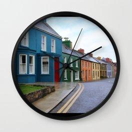 colorful peace Wall Clock