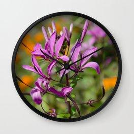 PASTEL PURPLE FLOWER  Wall Clock