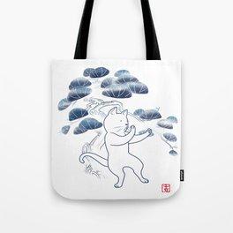 Tai Chi Cat 04 Tote Bag