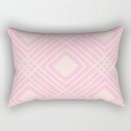 Criss Cross Diamond Pattern in Pink Rectangular Pillow