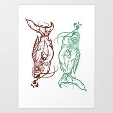Chinese Fish Art Print