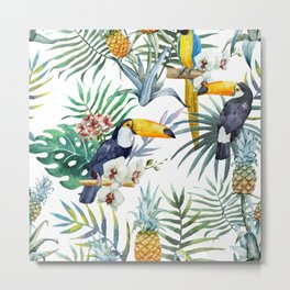 Tropical pattern Metal Print