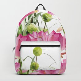 Field of Lotos Flowers Backpack
