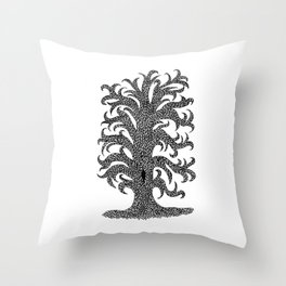 Squirrel's House Throw Pillow