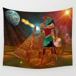 Ancient Secrets THOTH 3D Scifi Egyptian Wall Tapestry