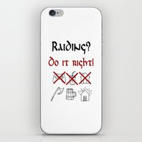 vikings iPhone & iPod Skins featuring Raiding 1, Vikings by ZsaMo Design