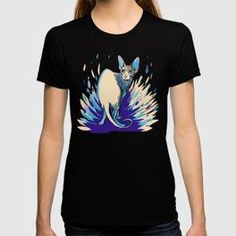 Sphynx Cat - Blue Purple Vanilla - Cat Lover T-shirt