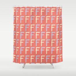 Hand Written Letter F Pattern Shower Curtain