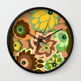 CAMBRIA, ART DECO FLORALS: EARLY AUTUMN Wall Clock