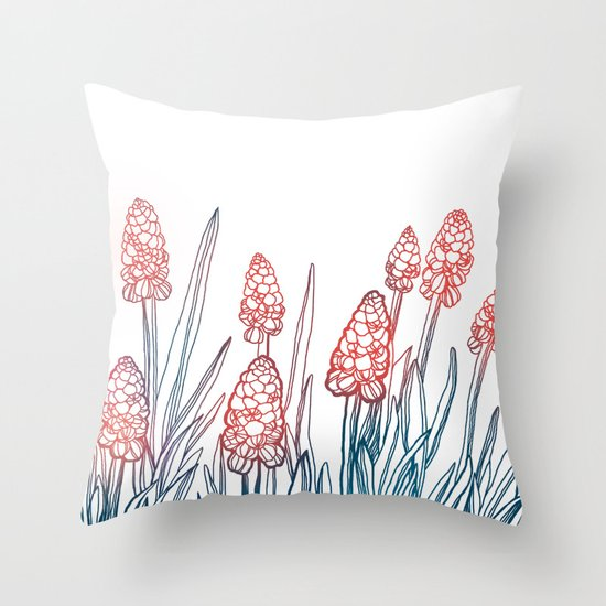 Hyacinths Throw Pillow