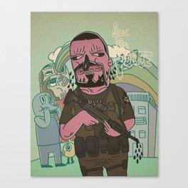 fuc le police 2 Canvas Print