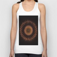 black and gold Tank Tops featuring Gold by Jane Lacey Smith