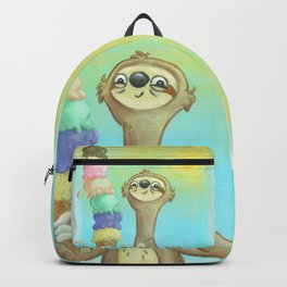 Sloth Loves Ice Cream! Backpack