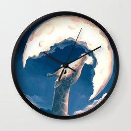 La fable de la girafe Wall Clock