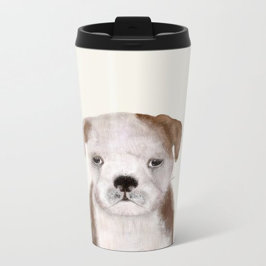 little bulldog Metal Travel Mug