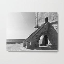 Taranto, Sicily | Saltworks tower building Metal Print