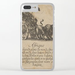 Game of Geography - Africa (Stefano della Bella, 1644) Clear iPhone Case