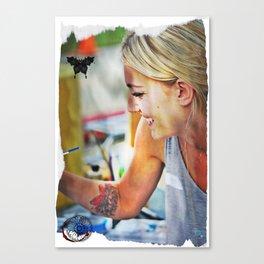 Happy Painter Canvas Print