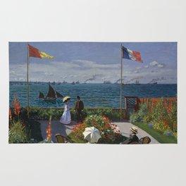 Garden at Sainte-Adresse by Claude Monet Rug