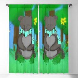 Cuddly Black Bear Blackout Curtain